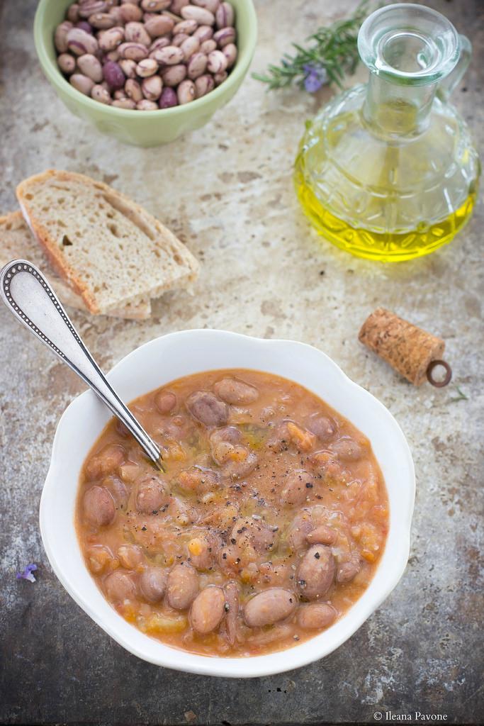 Zuppa di fagioli borlotti