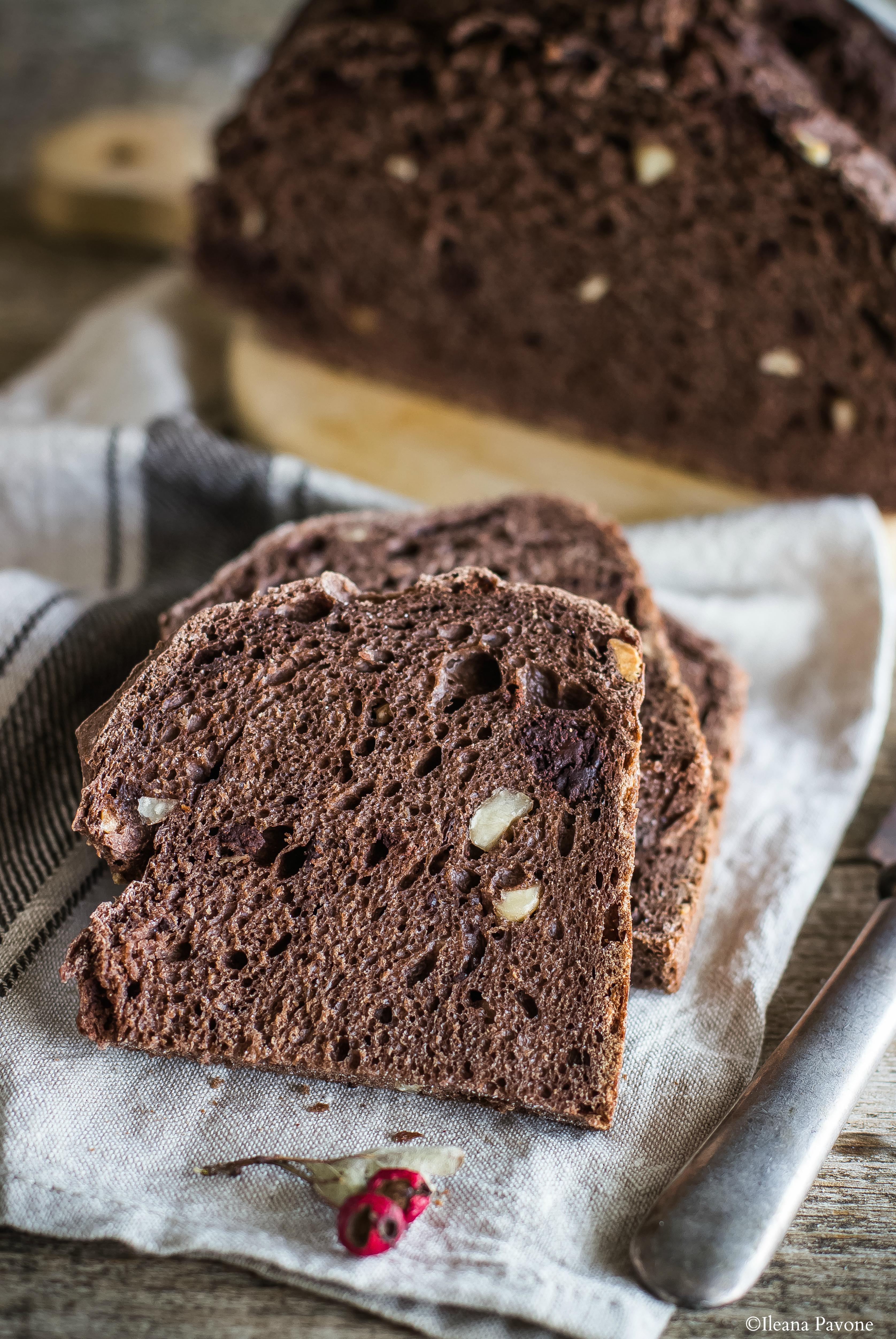 Pane al cacao e nocciole